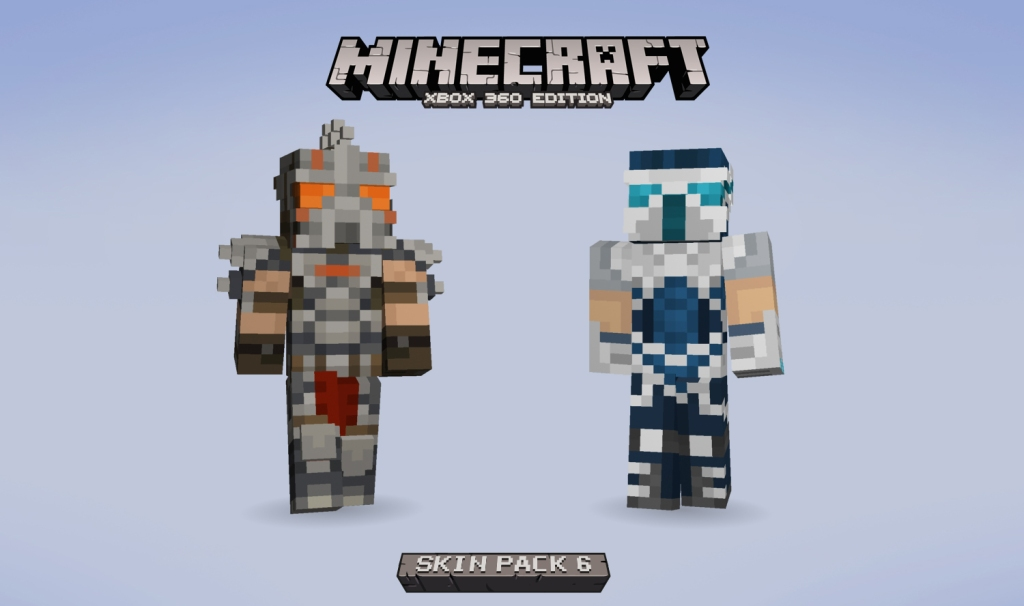 The two Trials skins for Minecraft on Xbox 360.