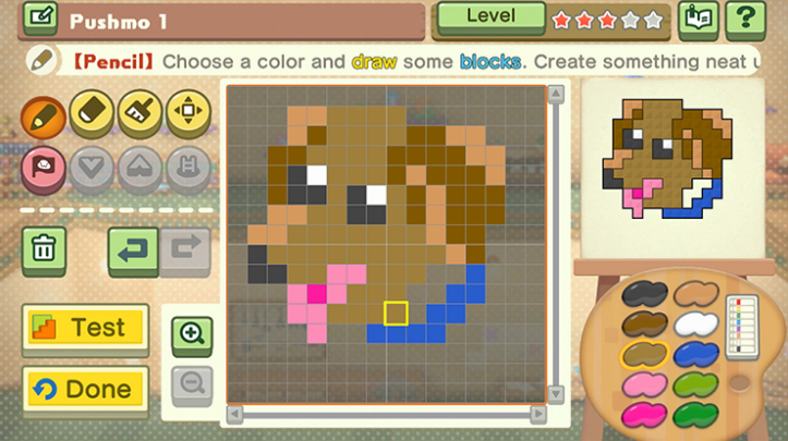 Pushmo World's level editor is super easy to use.