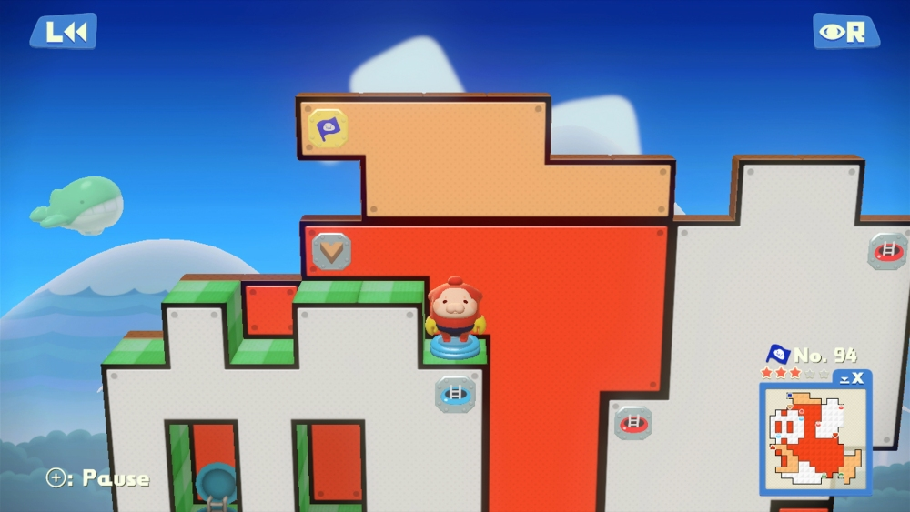 Pushmo World's level feature some familiar characters.