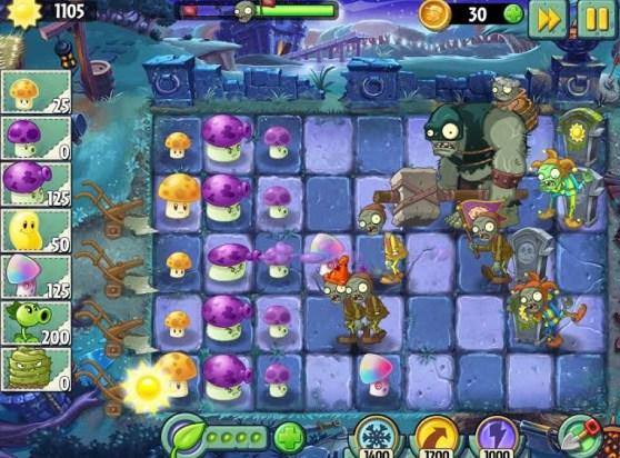 Plants vs Zombies 2 on mobile