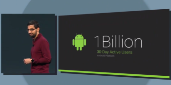 Android now has over 1B active users, up from 538M last year