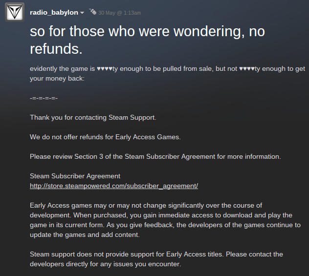 Steam users claim that customer service will not refund their Monsters and Munitions purchases.