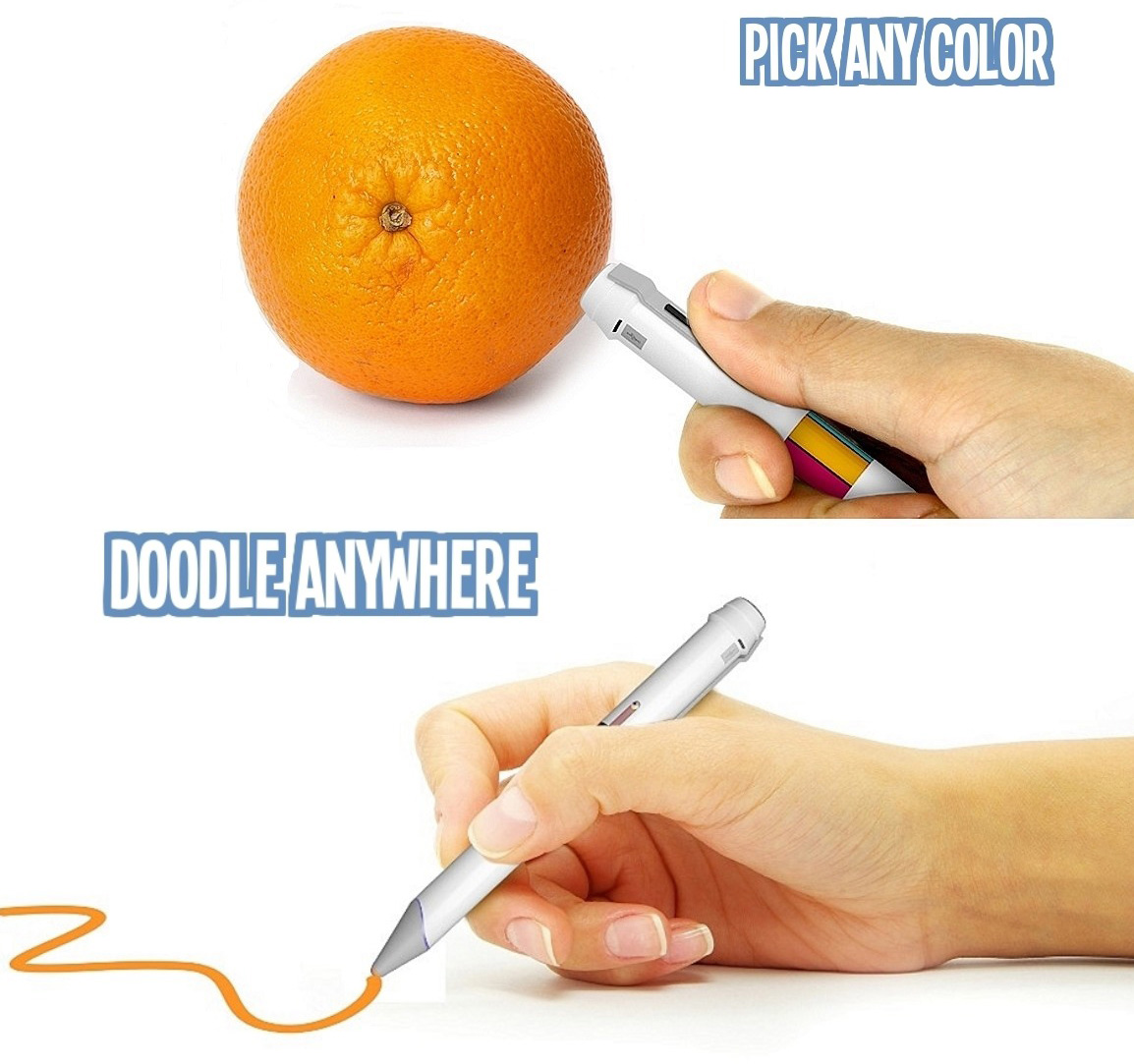 Colored Ink Pens Pens Below an Ink