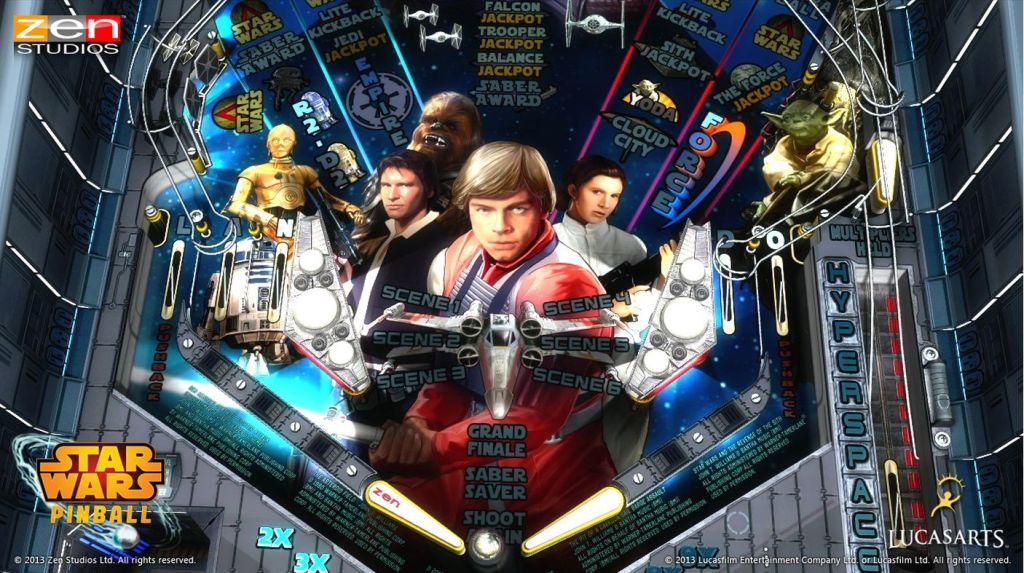 Star Wars Pinball from Zen Studios.