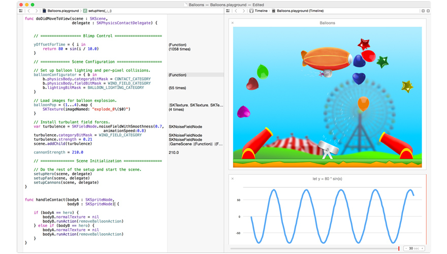 """A look at Swift's """"Playground"""" development environment."""