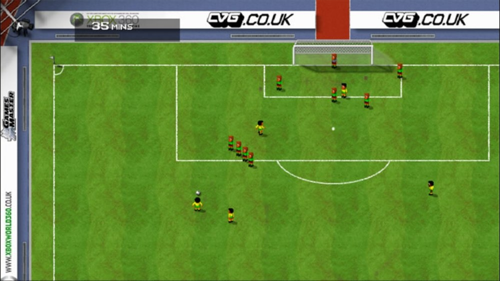 Sensible World of Soccer features simple, retro-style gameplay.