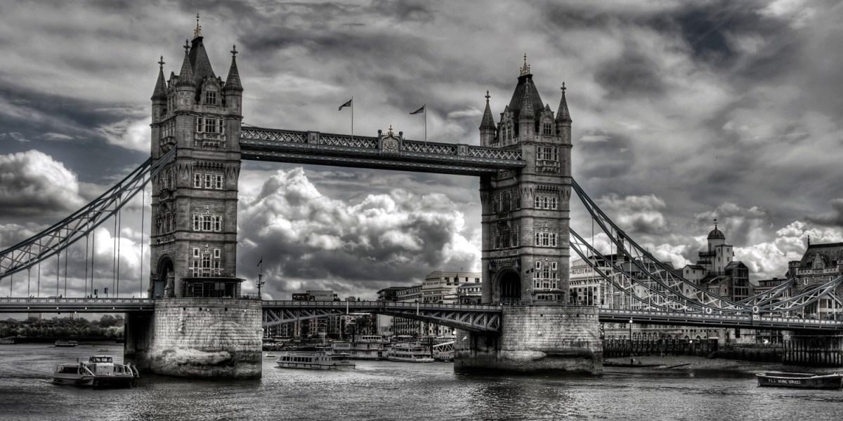 The Tower Bridge of London.