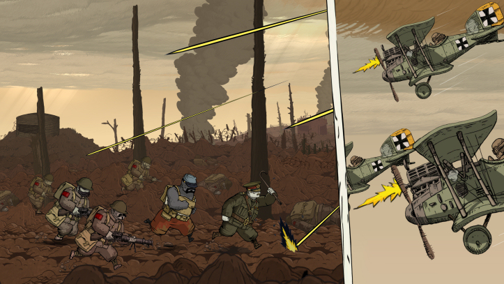 Valiant Hearts - Charging into battle