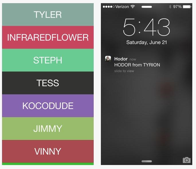 Inspired by Yo, iOS messaging app 'Yo Hodor' is a worthy
