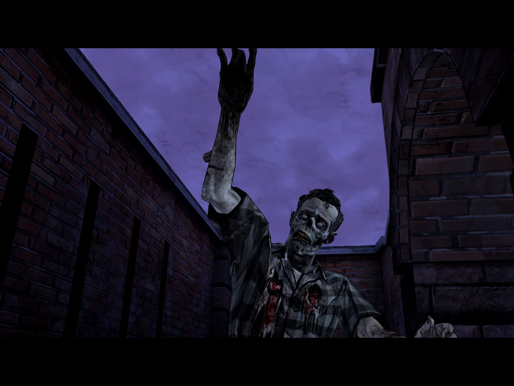 A walker gets too close for comfort in The Walking Dead Season 2, Episode 4: Amid the Ruins
