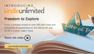A screenshot of the now removed webpage for Amazon's Kindle Unlimited service.