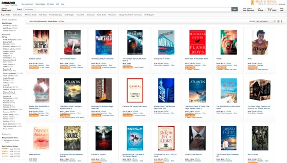 Another shot of the Amazon KU Test page.