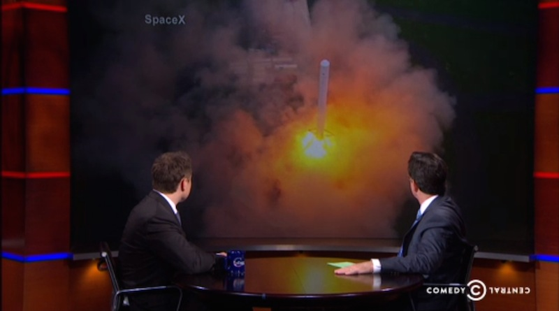 Colbert with Musk