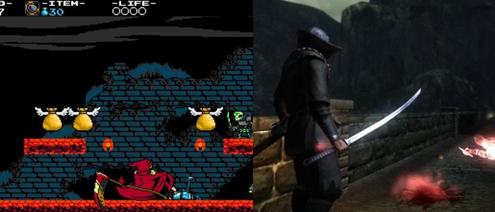 Shovel Knight vs. Dark Souls.
