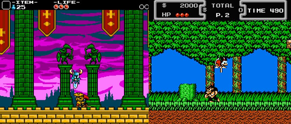 Shovel Knight vs. Ducktales.