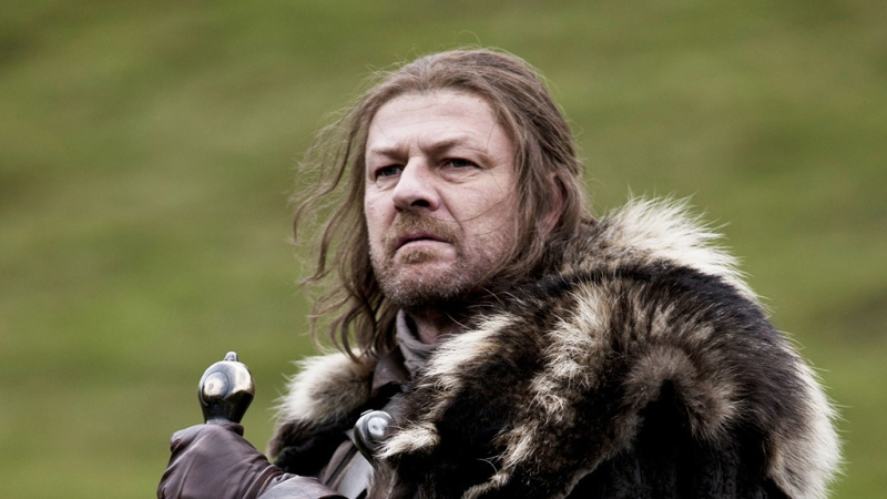 """Ned Stark's motto: """"Winter is coming."""""""