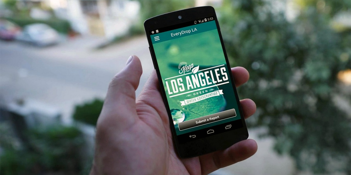 """The """"EveryDrop LA"""" app helps curb water waste and promote water conservation in Los Angeles."""