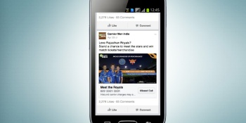 Facebook tests an unconventional new ad unit in India