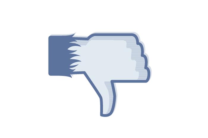 Facebook Thumbs down