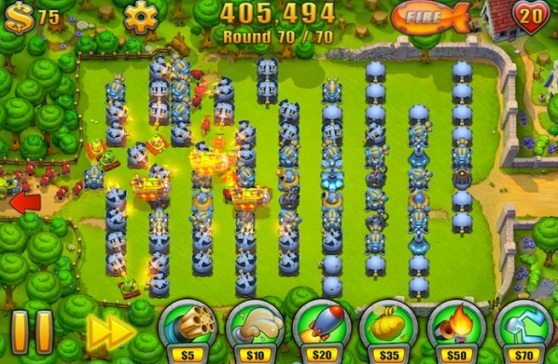 Another impossible level in Fieldrunners 2