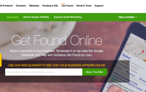 GoDaddy's Get Found Online section