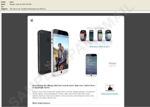 Screenshot of iPhone 6 phishing scam