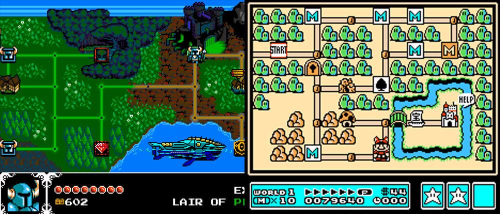 Shovel Knight vs. Super Mario Bros. 3.