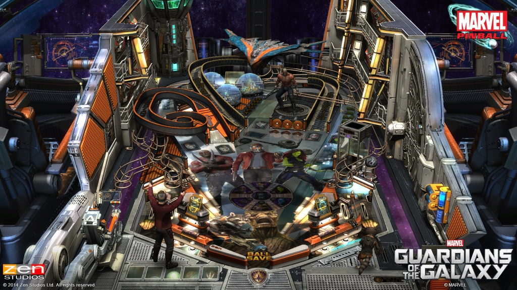 The Guardians of the Galaxy pinball table.