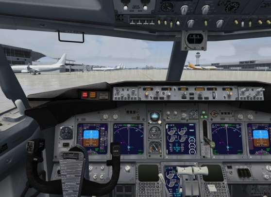 Microsoft Flight Simulator X cockpit view