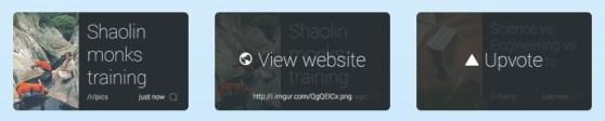 Screenshots demonstrating the functionality of new Glassware Reddit app Monocle.