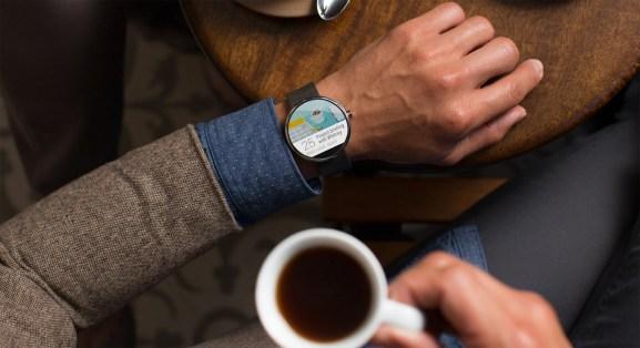 Motorola's Moto 360 smartwatch.