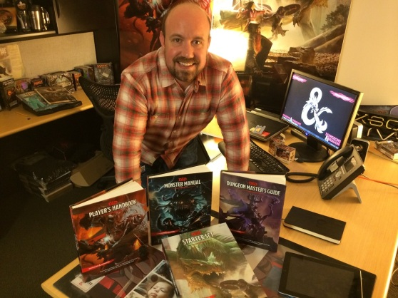D&D brand manager Nathan Stewart shows off the new edition.