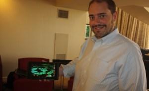Matt Wuebbling of Nvidia with Shield Tablet