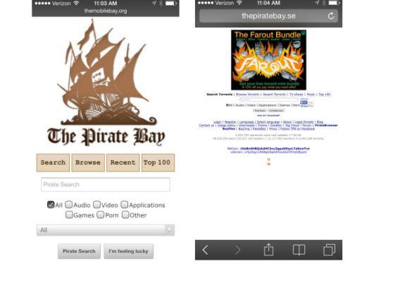 pirate bay mobile