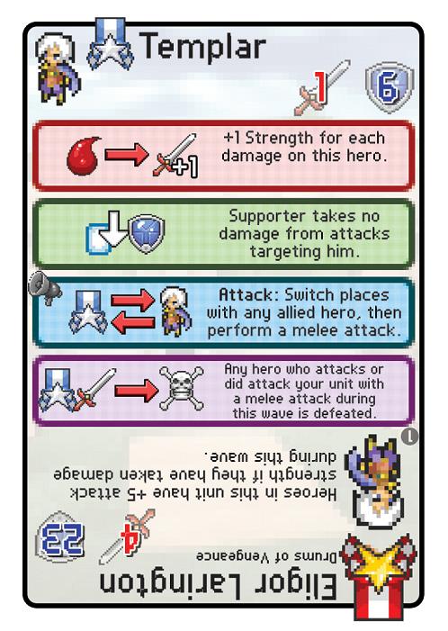 Pixel Tactics - Templar card