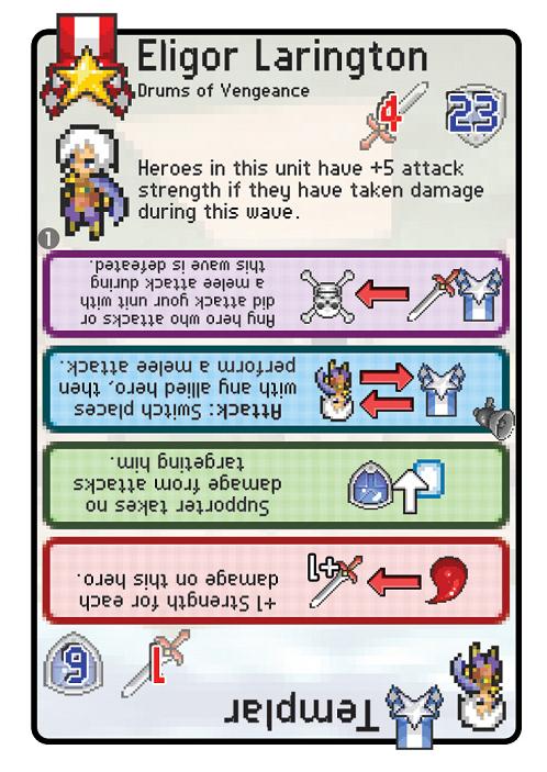 Pixel Tactics - Templar card (leader)