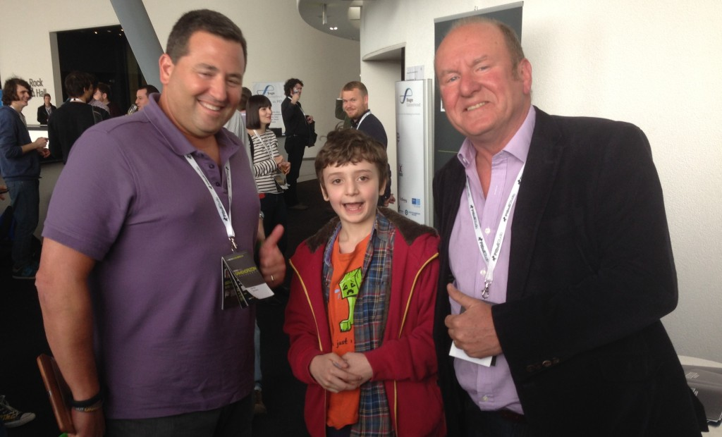 Sam alongside Epic Games co-founder Mark Rein and entrepreneur Ian Livingstone at Game Horizon.