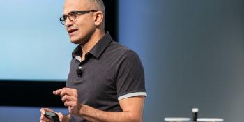 Nadella's first full quarter at Microsoft barely beats revenue predictions, but profits slip