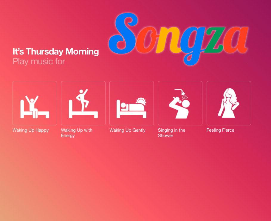 Songza Playlists