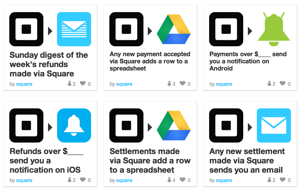 Square launches IFTTT channel, lets your transactions trigger almost