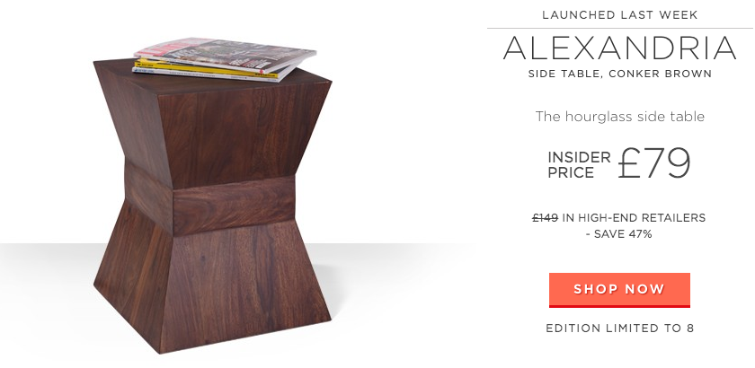 Swoon Editions offers handmade furniture in limited editions at low prices.