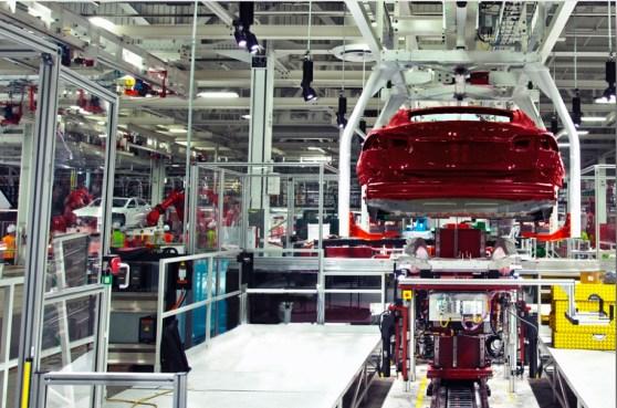 A Tesla factory
