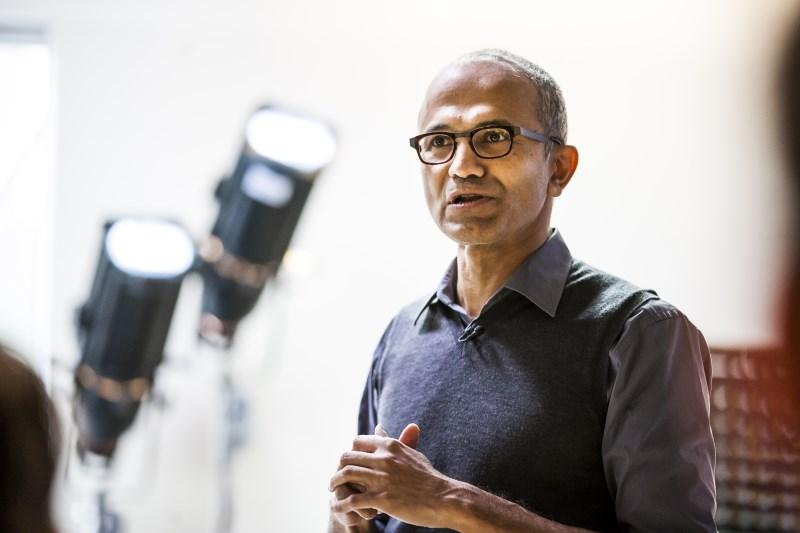 Satya Nadella, Microsoft's chief executive.
