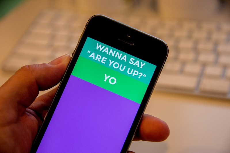 Million Dollar App That Says 'Yo'