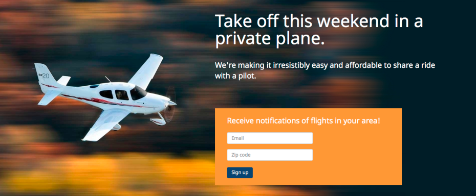 AirPooler's home page