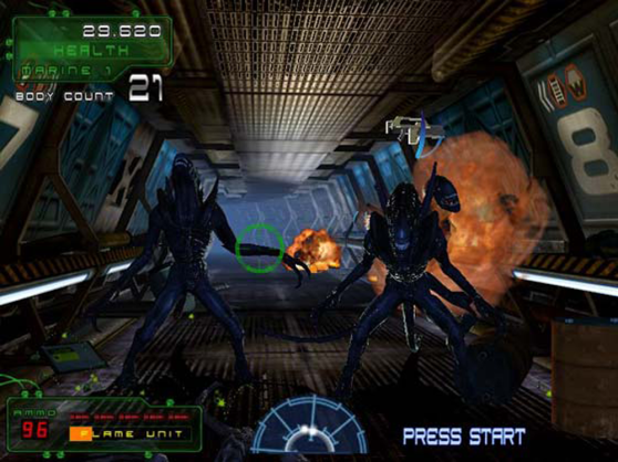 Aliens: Extermination alien attack