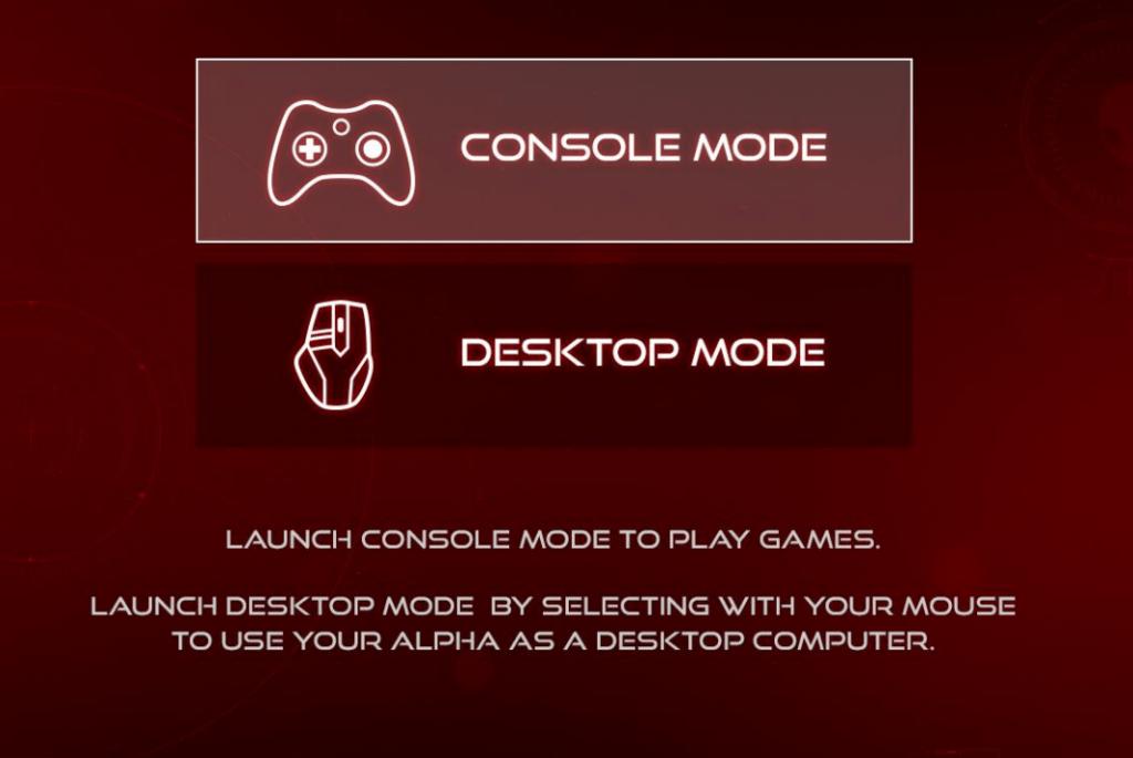 alpha console mode