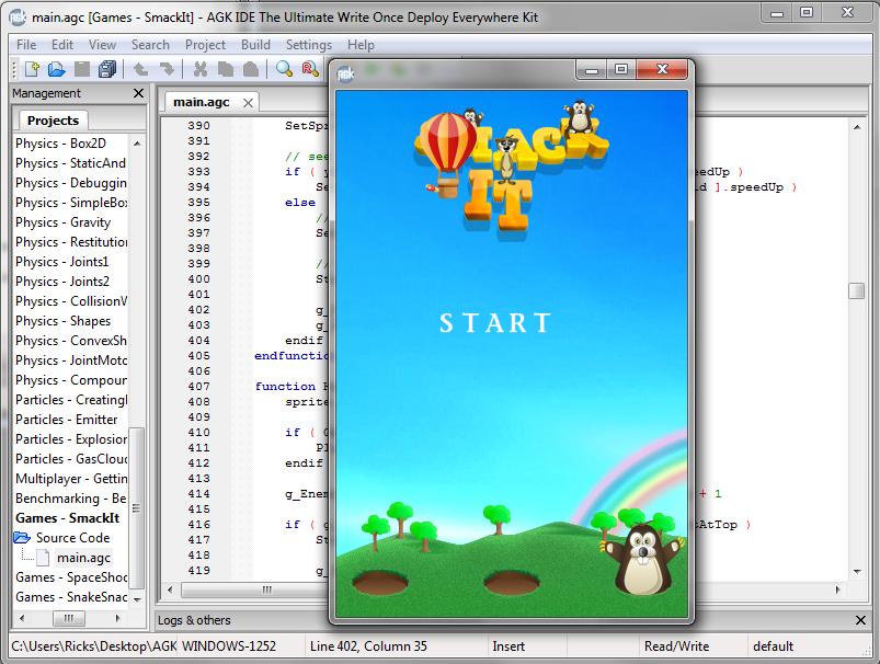 App Game Kit.