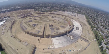 First look at Apple's new 'spaceship' campus, thanks to drone