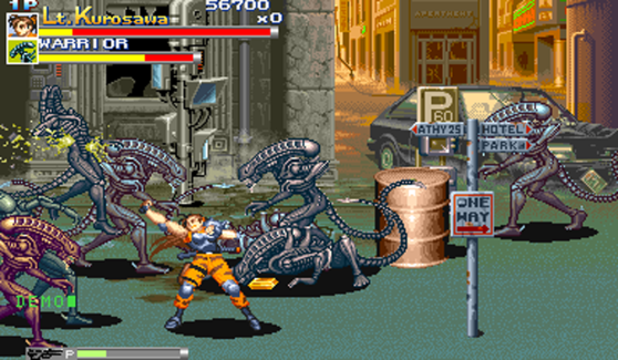 Aliens vs. Predator Capcom CPS2 street brawl